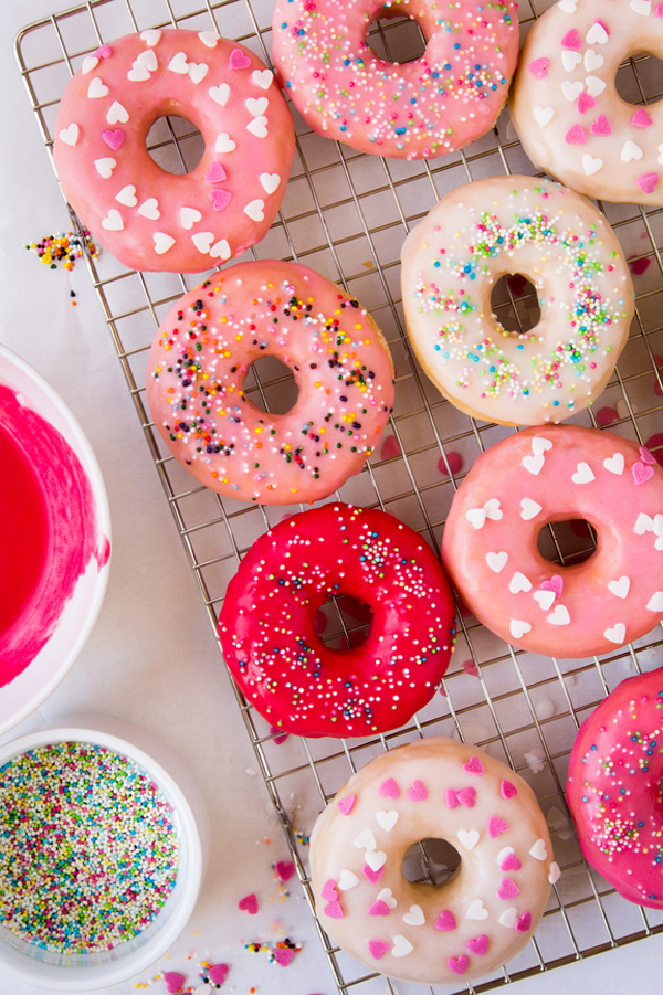 The brightest homemade donut glaze
