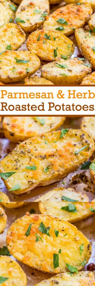Parmesan and Herb Roasted Potatoes Recipe