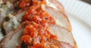 Perfect For Christmas Dinner Spinach Dip Stuffed Pork Loin