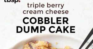 Triple Berry Cream Cheese Cobbler Dump Cake