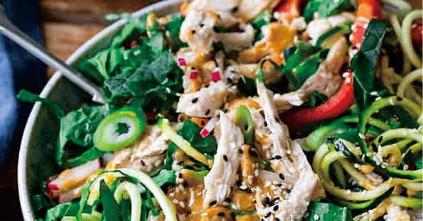 Thai Chicken Salad with Easy Peanut Dressing