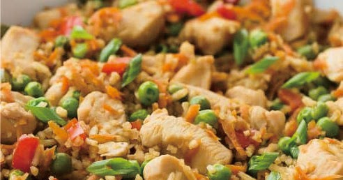 One Pot Teriyaki Chicken, Rice and Vegetables
