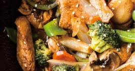 GARLIC SESAME CHICKEN STIR FRY