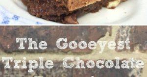 EASY GOOEY TRIPLE CHOCOLATE BROWNIES