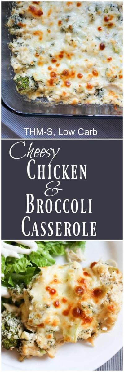 Cheesy Chicken and Broccoli Casserole Recipe (THM-S, Low Carb)