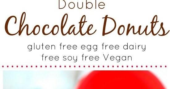 DOUBLE CHOCOLATE DONUTS (VEGAN GLUTEN FREE DAIRY FREE EGG FREE)