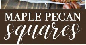 Maple Pecan Squares