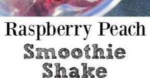 Raspberry Peach Smoothie Shake