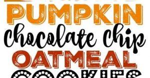 PUMPKIN CHOCOLATE CHIP OATMEAL COOKIES {GF, LOW CAL, VEGAN}