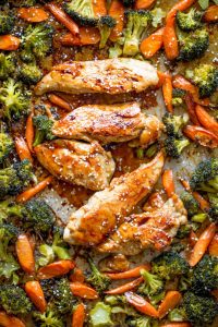 Sheet Pan Korean Chicken and Vegetables Recipe