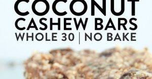 COCONUT CASHEW BARS