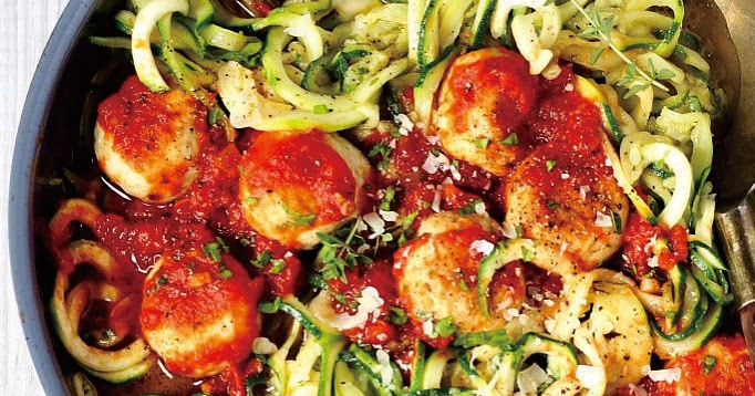Chicken Meatballs Zoodles