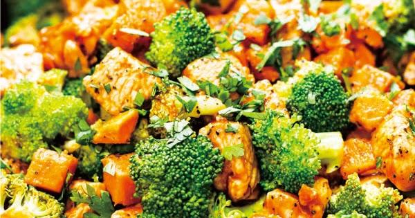 Honey BBQ Chicken with Sweet Potatoess