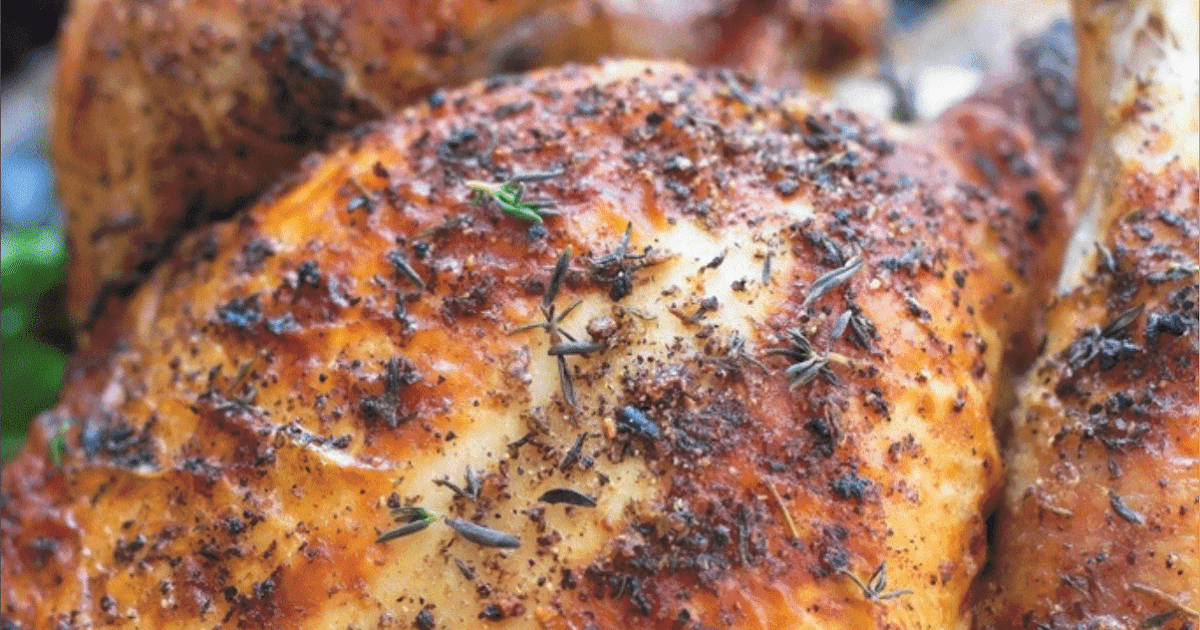 PERFECT ONE HOUR WHOLE ROASTED CHICKEN