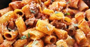 Easy, Hearty Rigatoni with Italian Sausage