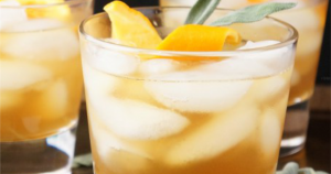 Honey Winter Bourbon Cocktail with Honey Sage Syrup