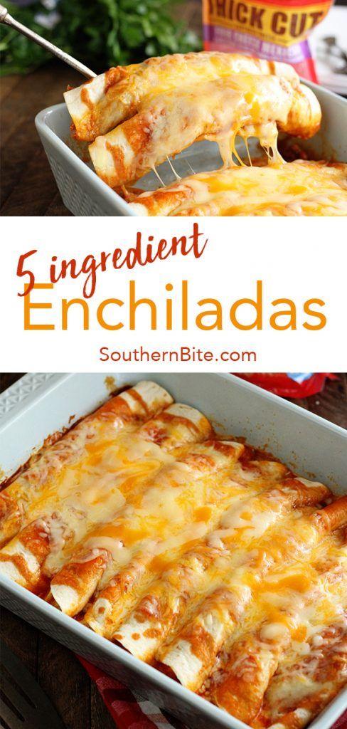 5 Ingredient Beef Enchiladas