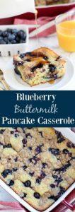Blueberry Buttermilk Pancake Casserole Recipe