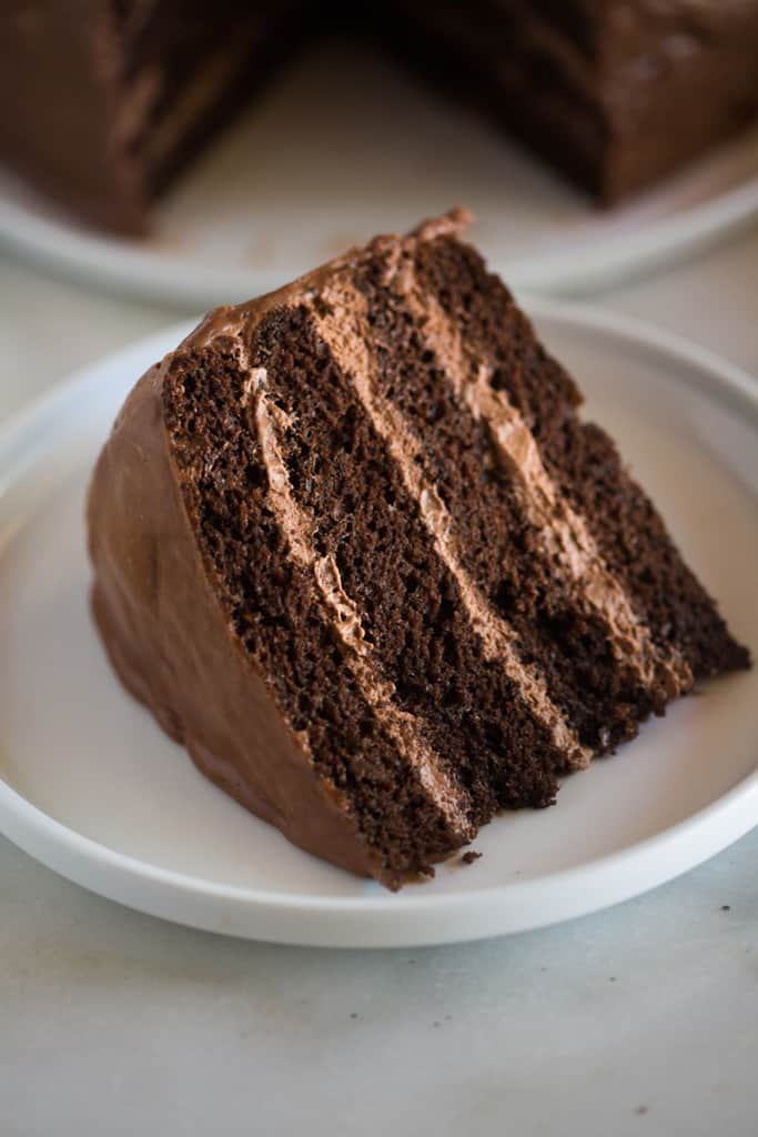 Chocolate Cake With Chocolate Mousse Filling Recipes