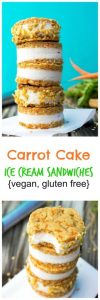 Carrot Cake Ice Cream Sandwiches (vegan & gluten free)