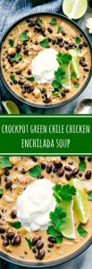 Crockpot Green Chicken Chile Enchilada Soup
