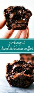Greek Yogurt Chocolate Banana Muffins Recipe