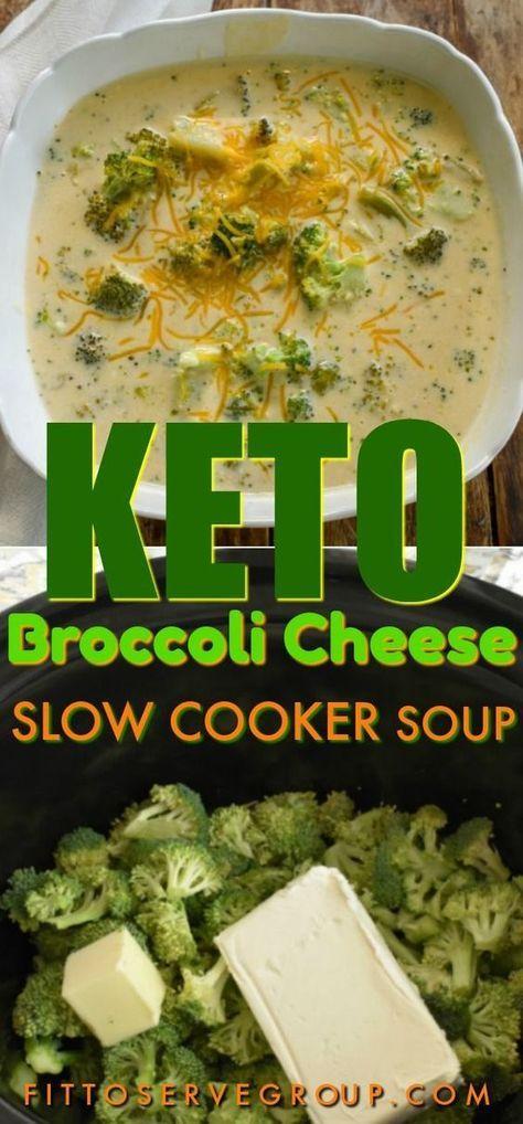 Keto Broccoli Cheese Slow Cooker Soup
