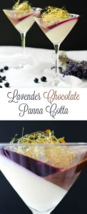 Lavender Chocolate Panna Cotta With Blueberry Jello