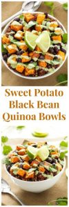 Sweet Potato and Black Bean Quinoa Bowls Recipe
