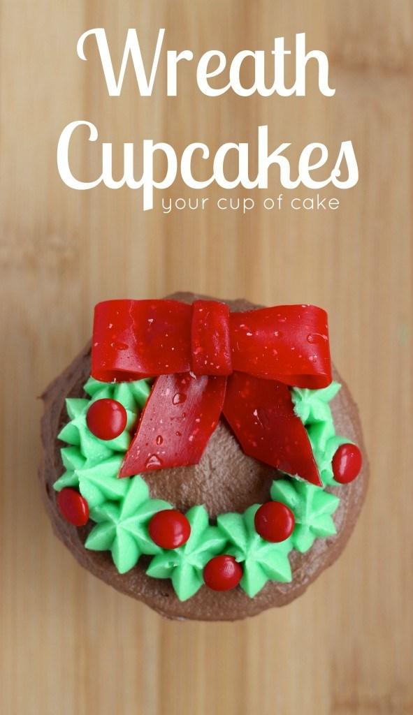 Wreath Cupcakes Recipe