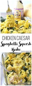 Chicken Caesar Spaghetti Squash Bake Recipe