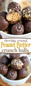 Chocolate Covered Peanut Butter Crunch Balls Recipe