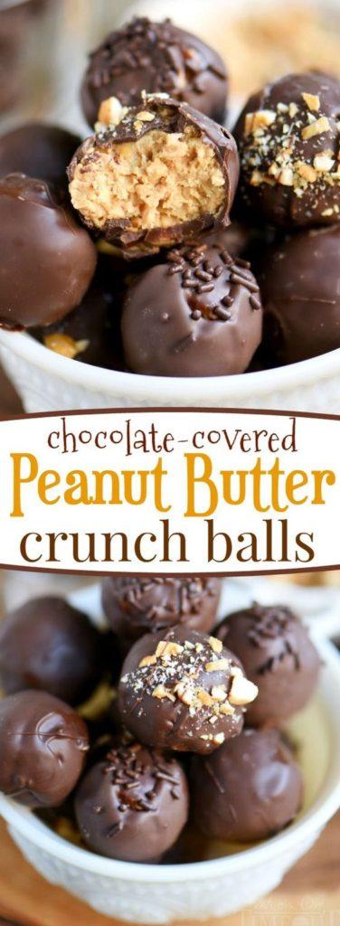 Chocolate Covered Peanut Butter Crunch Balls Recipe