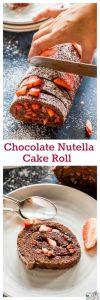 Chocolate Nutella Cake Roll Recipe
