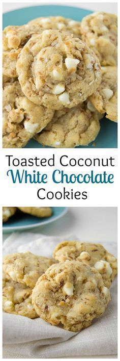 Toasted Coconut White Chocolate Chip Cookies Recipe